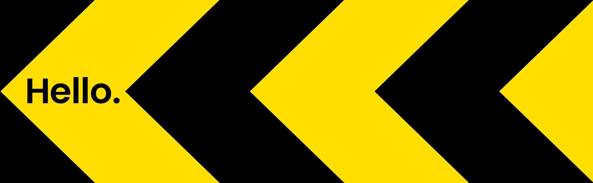 black and yellow arrows pointing left