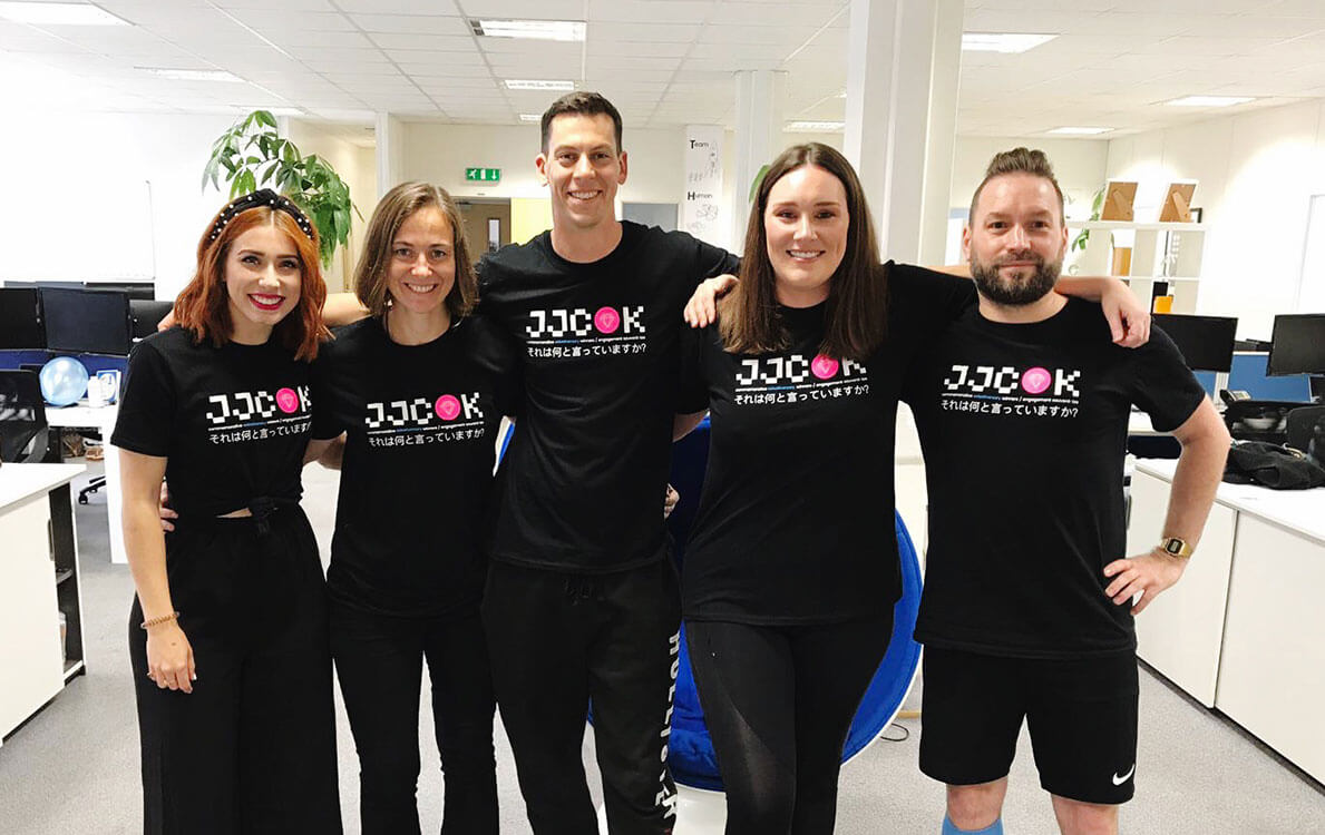 Team JJCOK designed their own t-shirts for the Selesti birthday party!