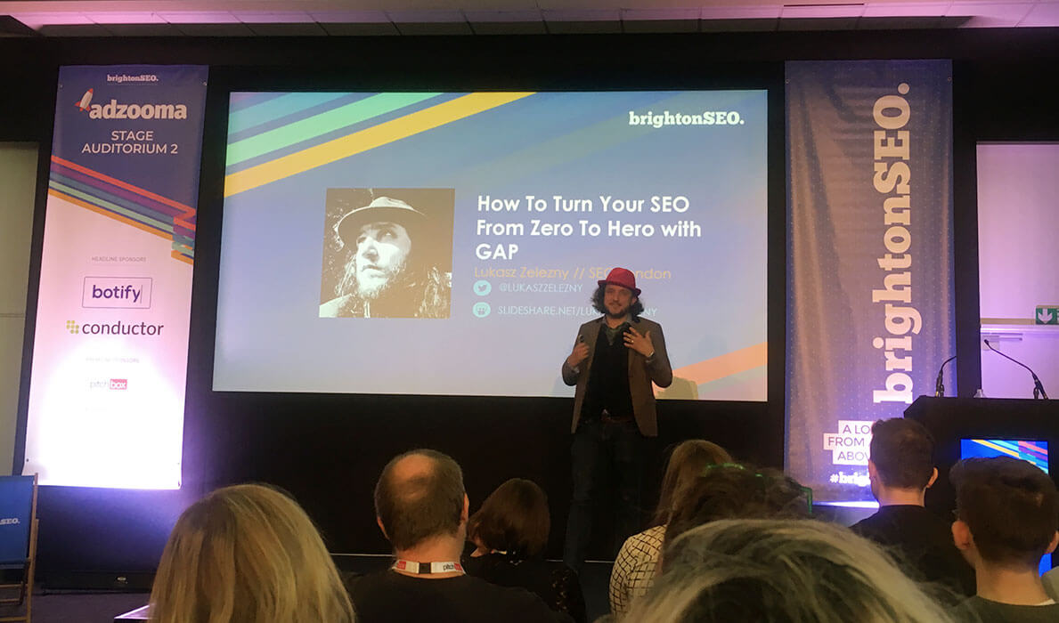 Lukasz Zelezny gave an incredible talk about SEO strategy at BrightonSEO